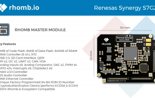 rhomb.io_Renesas_Synergy_S7G2-01 for IoT developers